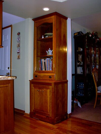 Kitchen Cabinet Cabinets Chery Vegetable Display Bookcase
